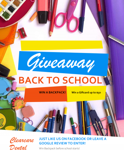 Back To School Giveaway - enter to win a backpack or $50 gift card